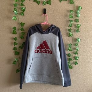 Adidas Gray with Maroon Accents Pullover Hoodie